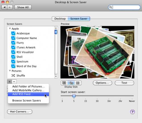 Desktop & Screen Saver Preferences